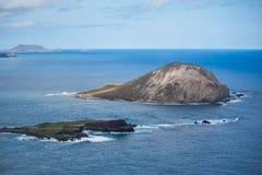 Ilhas fora da costa de Oahu imagens de stock royalty free