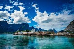 Ilhas Noruega do arquipélago de Lofoten imagem de stock