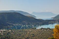 Ilhas pequenas no mar Ionian em Lefkada Foto de Stock Royalty Free