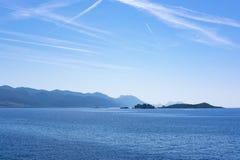 Ilhas perto de Korcula, Dalmácia imagens de stock