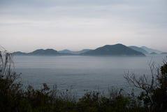 Ilhas que flutuam no mar Foto de Stock