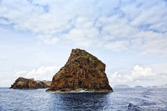 Ilheus de Madalena off the coast of Pico Island Stock Images