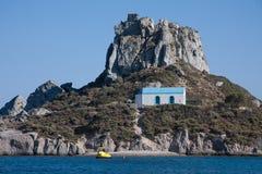 Ilhota de Aghios Stefanos Imagem de Stock Royalty Free