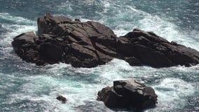 Ilhotas de rochas litorais vídeos de arquivo