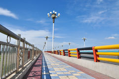 Ili River Bridge in Xinjiang China Royalty Free Stock Photo