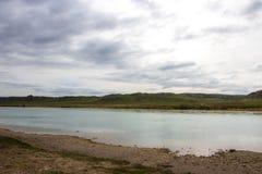 Ili rzeka, Kazachstan Stepowa wiosna Obrazy Royalty Free