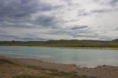 Ili rzeka, Kazachstan Stepowa wiosna Obraz Royalty Free