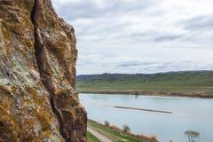 Ili rzeka, Kazachstan Stepowa wiosna Zdjęcia Royalty Free