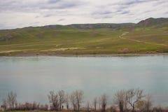 Ili rzeka, Kazachstan Stepowa wiosna Obraz Stock