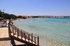 Cesme Aegean Sea Ilica Beach Royalty Free Stock Image