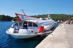 Ilida 11 hydrofoil, Paxos Stock Images