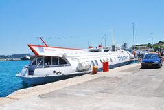 Ilida II hydrofoil, Corfu Stock Photo