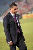 Ilie Dumitrescu. The coach of Steaua Bucharest during Steaua - Victoria Branesti match Royalty Free Stock Image