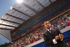 Ilie Dumitrescu. As coach of FC Steaua Bucharest Stock Photo