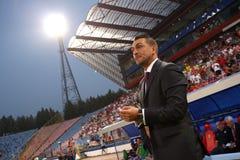 Ilie Dumitrescu. As coach of FC Steaua Bucharest Stock Photos