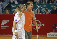 Ilie Nastase and Andrei Pavel Royalty Free Stock Photo