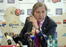 Ilie Nastase. Former ATP Romanian star Ilie Nastase pictured during the press conference held to present the new trophy of the ATP 250 tournament BRD Nastase Stock Images