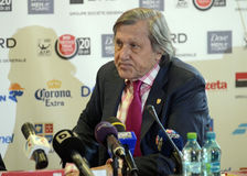 Ilie Nastase. Former ATP Romanian star Ilie Nastase pictured during the press conference held to present the new trophy of the ATP 250 tournament BRD Nastase Stock Photo