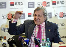 Ilie Nastase. Former ATP Romanian star Ilie Nastase pictured during the press conference held to present the new trophy of the ATP 250 tournament BRD Nastase Stock Photos