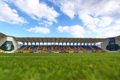 Ilie Oana Stadium of Petrolul Ploiesti. HDR picture of Ilie Oana Football Stadium of Petrolul Ploiesti Stock Image