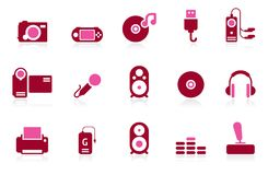ILife. A set of 2 coloured icons based on electronic gadgets