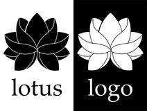 ILine art black and white lotus flower image on white background