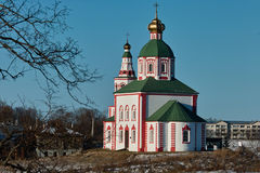 Ilinskaya kyrka Royaltyfri Fotografi