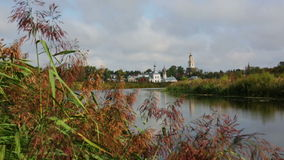 Ilinsky church at Suzdal stock video footage