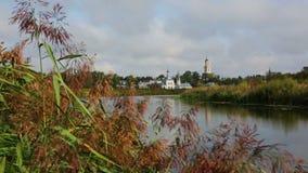 Ilinsky Kirche bei Suzdal stock video footage
