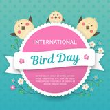 IlInternational Bird Day. Vector illustration for a holiday. Space for text. IlInternational Bird Day. Space for text. It can be used for decoration greetings Royalty Free Stock Photography