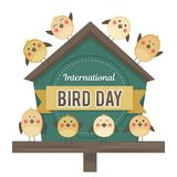 IlInternational Bird Day. Vector illustration for a holiday. Space for text stock illustration