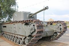 Vintage military tank. Ilitary tank on the seafront at Southsea Royalty Free Stock Photos