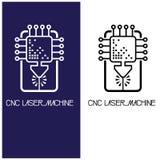 Iliumustration που αποτελείται από δύο CNC εικόνες μηχανών υπό μορφή συμβόλου ή λογότυπου Στοκ εικόνες με δικαίωμα ελεύθερης χρήσης