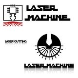 Iliumustration consisting of two CNC machine images in the form of a symbol or logo royalty free stock photo