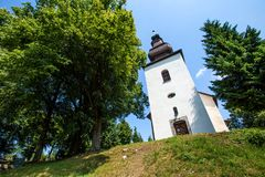 Ilja in Slovakia. St. Gilles Church from XIII century Stock Photos