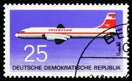 Iljuschin Il-18, Luftfahrt serie, circa 1969 lizenzfreies stockbild