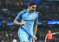 Ilkay Gundogan amazed by scoring against FC Barcelona Stock Photos