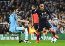 Ilkay Gundogan et Neymar Photos stock