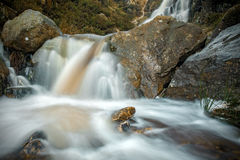 Ilkley Moor, close-up of waterfall, UK Stock Photos