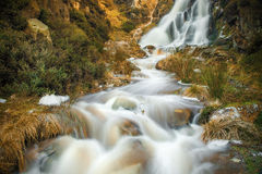 Ilkley Moor waterfall, UK Royalty Free Stock Image