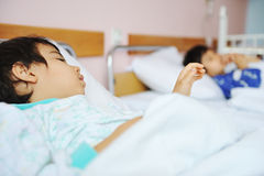Free Ill Child In Hospital Royalty Free Stock Photos - 14018618
