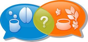 Ill choice di discussione di negoziato di conversazione della bevanda del tè del caffè illustrazione vettoriale