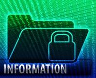 Ill di concetto del dispositivo di piegatura di memoria di riserva di informazioni di dati Fotografia Stock Libera da Diritti