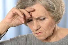 Ill elderly woman Royalty Free Stock Image