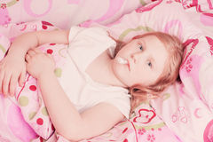 Ill girl indoor Royalty Free Stock Photo