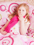 Ill girl Royalty Free Stock Photos