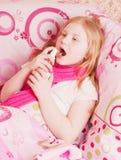 Ill girl Stock Image