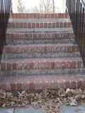 Ill love you every step of the way. Sentiment in chalk on brick stairs Royalty Free Stock Images
