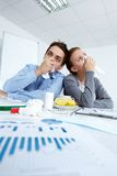Ill office workers Stock Photo