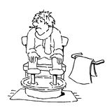 Ill person with his legs in a water basin Stock Images